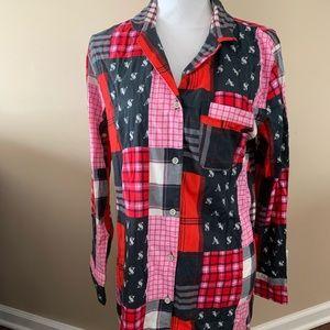 Victoria's Secret sleep night shirt button down